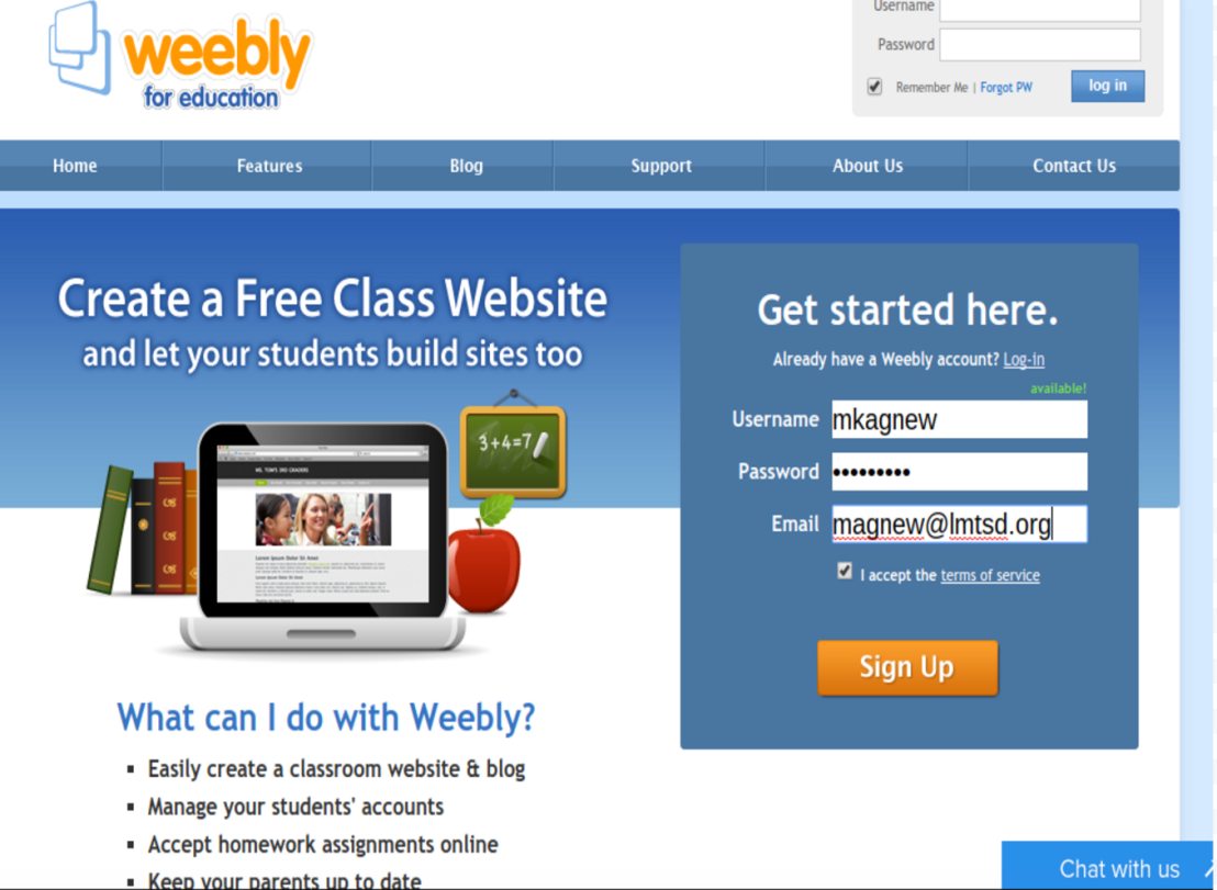 Creating Student Blogs Using Weebly for Education – LMTSD