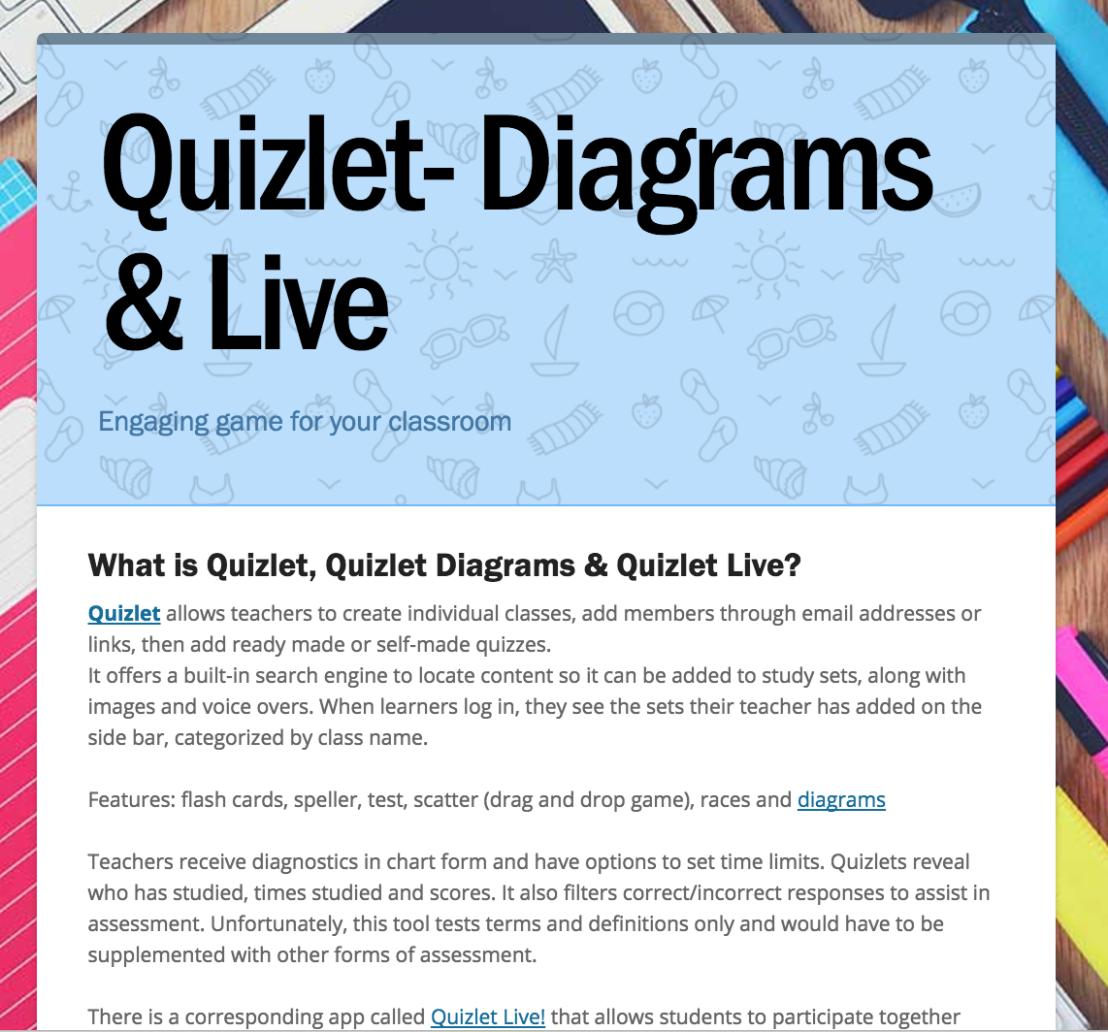 Quizlet, Quizlet Diagrams & Quizlet Live – LMTSD